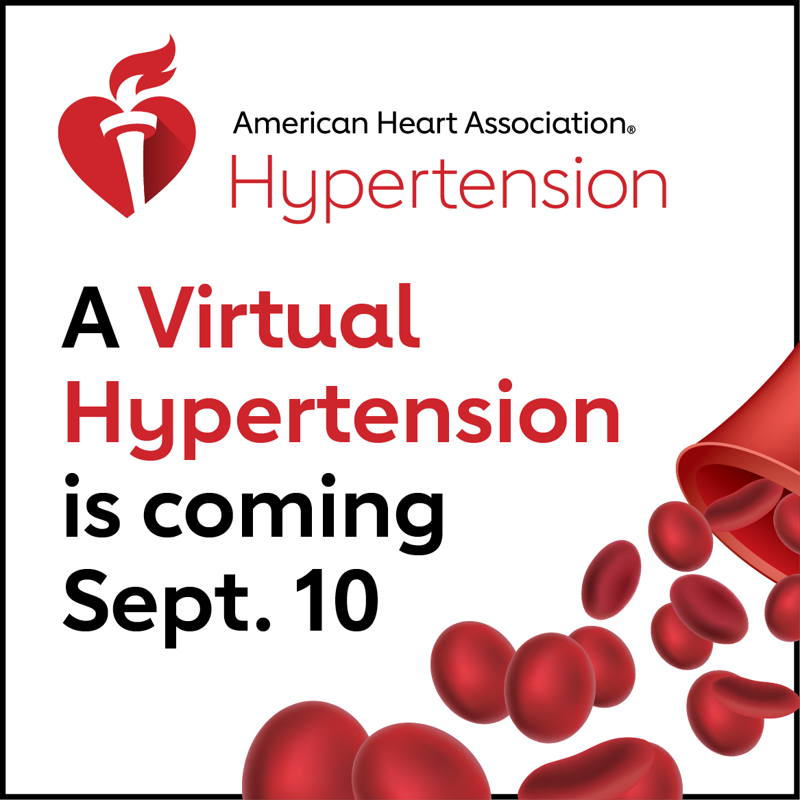 A Virtual Hypertension is coming Sept. 10